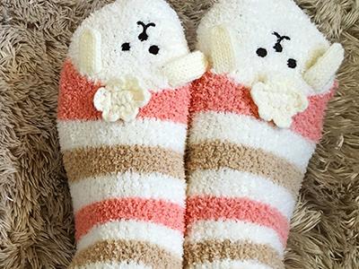 かわいいふわふわ靴下
