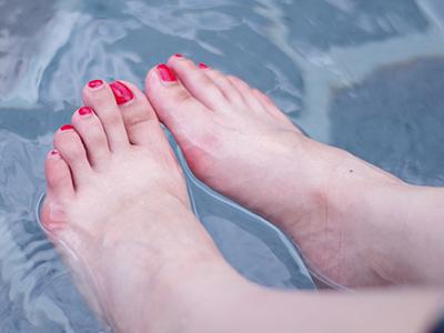 足湯の様子