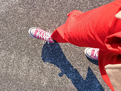 真っ赤な服装